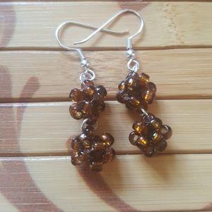 🍫 Handmade Chocolate Brown Earrings